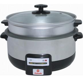 Takada Multipurpose Cooker w/Steamer Stainless Steel Body