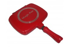 Double Grill Pan (Red)